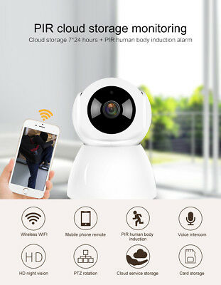 Wireless WIFI IP Camera 1080P HD Smart Home Security Camera Night Vision US PLUG