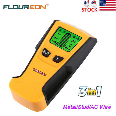 3-in-1 Digital Stud Center Finder Metal AC Live Cable Wire Detector Wall Scanner