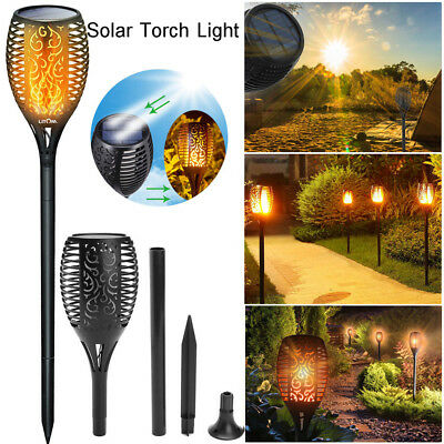 56 LED 96 LED Solar Sensor Power Torch Light Flame Lighting Flickering Yard Lamp
