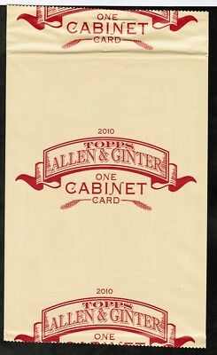 2010 Topps Allen & Ginter Box Topper Pack 1 Oversized Sealed Cabinet Card