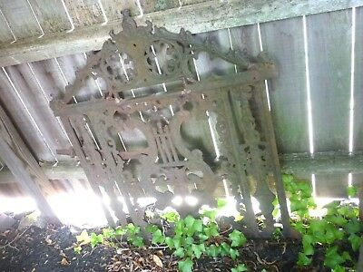Antique Cast Iron Garden Gate With Detailed Design / Circa 1800's Victorian