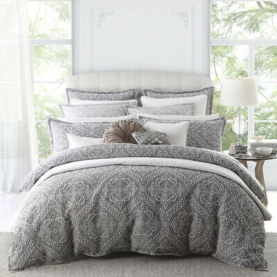 NEW Private Collection Manon Quilt Cover Set Silver King