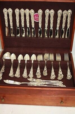 Old Atlanta by Wallace Sterling Silverware Flatware Set 72 pieces