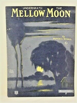 "SHEET MUSIC (vintage) ""UNDERNEATH THE MELLOW MOON "" 1922 - (7 of 10)"