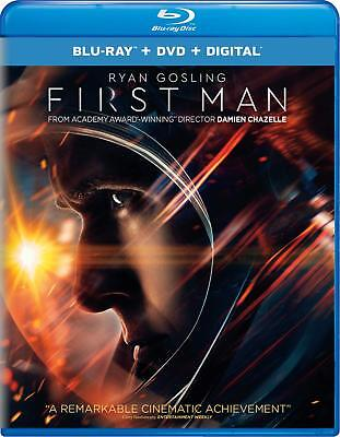 First Man Blu-Ray | Dvd | New | Ryan Gosling | Neil Armstrong