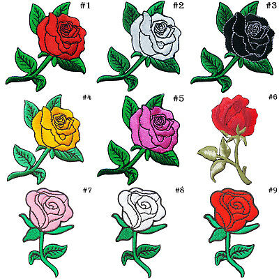 Rose Tattoo Rider Biker Motorcycle Rockabilly Flower Tree iron on patches #6