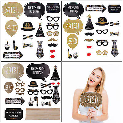Diy Photo Booth Props Blank Picture Frame Background Birthday