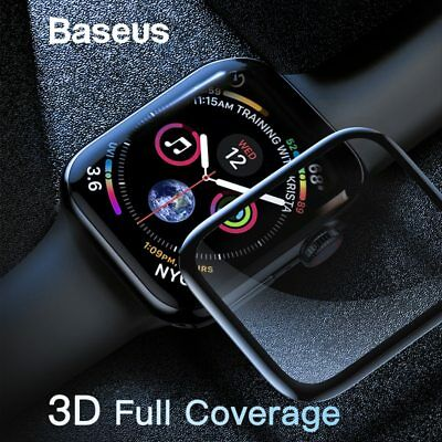 Baseus 0.3mm 3D Curved Full Coverage Tempered Glass fr Apple Watch iWatch 4 44mm