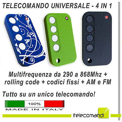 Télécommande Universelle Multi-Fréquence Rolling Code + Code Fixe Faac Bft Came