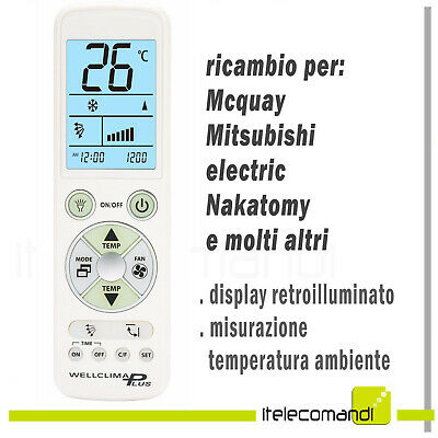 REMOTE CONTROL FOR McQuay G7EG21AP Air Conditioner - £10 35