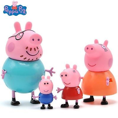 Peppa pig new George guinea pig Family Pack 4pcs/set Action Figure