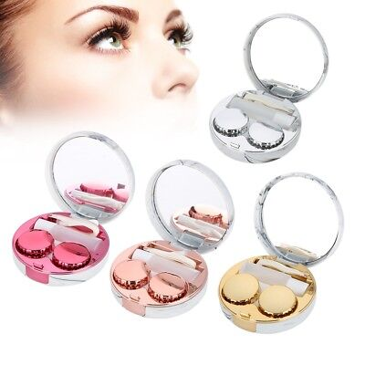 Mini Travel Contact Lens Case Box Container Holder Eye Care Kit With Mirror Tool
