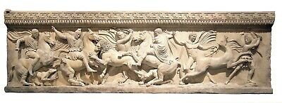 ALEXANDER THE GREAT SARCOPHAGUS Hellenistic Greek Relief reproduction replica