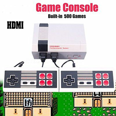 500 Games in 1 Classic Mini Game Console for NES Retro TV With 2 Gamepads