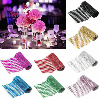 24 Row Drill Electroplating Color Crystal Net New Year Home Decor Valentine Gift