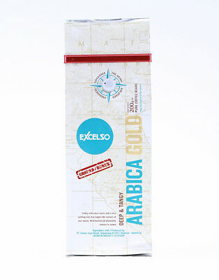 Excelso Arabica Gold Deep & Tangy Ground 100% Coffee Original 200g Great Taste