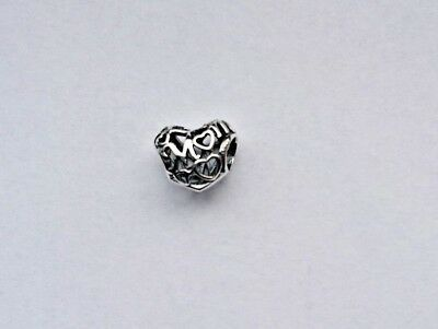 Genuine Pandora Openwork Mum Mother Heart Charm S925 Ale 751519