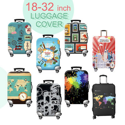 "18-32"" Travel Luggage Cover Protector Elastic Suitcase Anti Scratch Bag Cover"