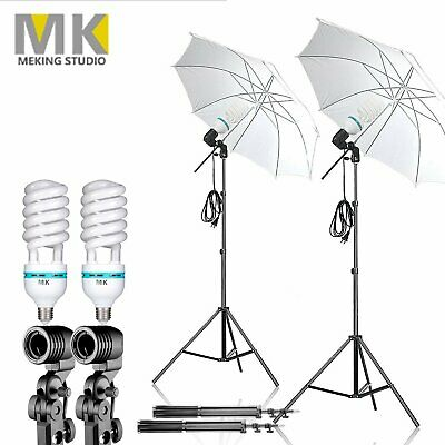 2PCS 1200W Continuous Light Photo Translucent Umbrella for Photography Lighting