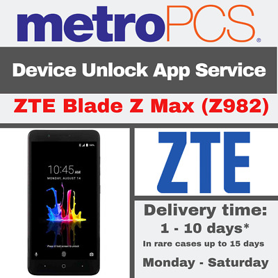METRO PCS ANDROID APP DEVICE UNLOCK SERVICE FOR ZTE Blade Z Max Z982
