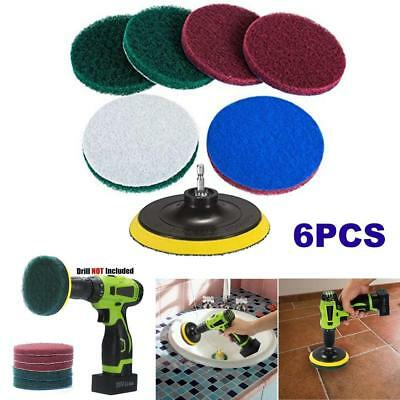 6PCS Scrub Pad Bathroom Tile Cleaning Drill Brush For Power Scrubber Scumbusting