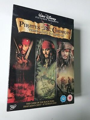 Pirates of the Caribbean 1/2/3 - 3 Movie Collection DVD New/Sealed