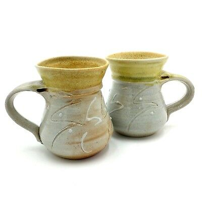 Jann Kesby Woodfired Pottery Coffee Mugs 250mls Kempsey NSW Australia Artisan