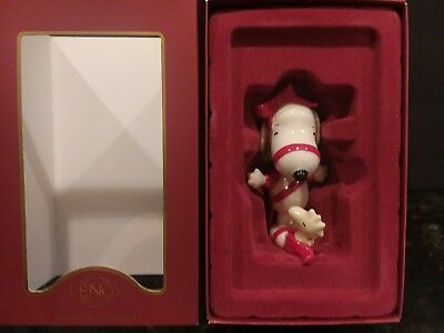 Lenox Ornament With Love From Snoopy Christmas Woodstock Peanuts Figurine Mint