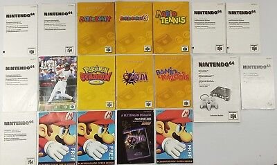 7 Nintendo 64 Manuals Mario Party 1, 3, Zelda, Banjo Kazooie Pokemon Stadium n64