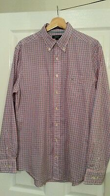 "Mens Gant Check Shirt,80's Casuals,22.5""ptp,red/whtt/blue,immaculate"