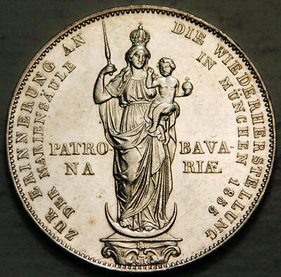 Bavaria (Germany) Silver 2 Gulden 1855