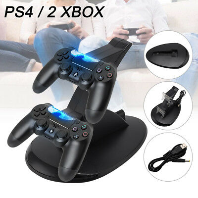 PS4 Playstation4 /XBOX Ladestation Dockingstation USB Dual Controller Charger