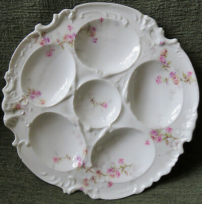 Antique Theodore Haviland Limoges France Oyster Plate 6 wells