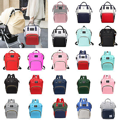 Mummy Maternity Nappy Diaper Bag Large Capacity Baby Travel Backpack w/ USB Port