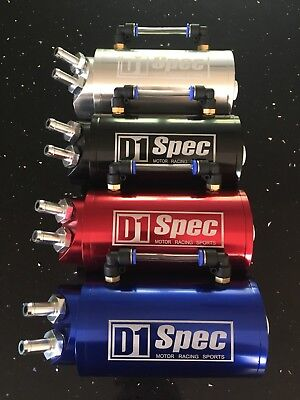 D1 SPEC Oil Catch Can! RED! Honda, Nissan, BMW, Audi, Volkswagen UK SELLER!!