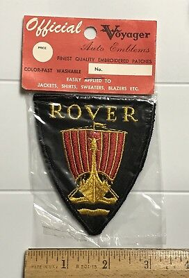 NIP Vintage Rover Car Company Voyager Auto Emblem Embroidered Patch
