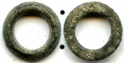 Thick authentic (20 mm, 5.19 g.) bronze Celtic ring money, 800-500 BC, Europe