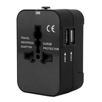 2 USB Port Universal Travel AC Power Charger Adapters Plug Converter AU UK US EU