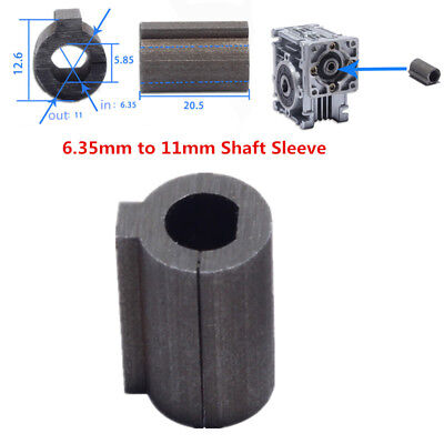 1pc 6.35mm Shaft Motor to 11mm Bore Adapter Shaft Sleeve Worm Gear Speed Reducer