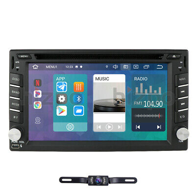 "6.2"" Smart Android9.0 4G WiFi Double 2DIN Car Radio Stereo DVD Player GPS+Camera"