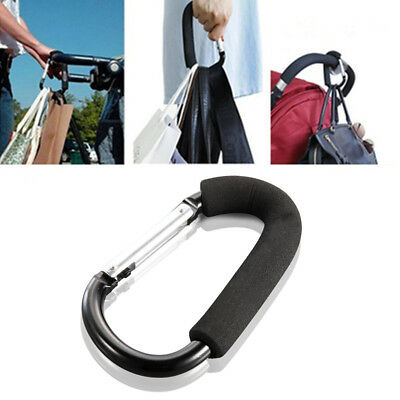 1/5x Shopping Bag Hooks For Buggy Baby Pram Pushchair Stroller Clips Accessories