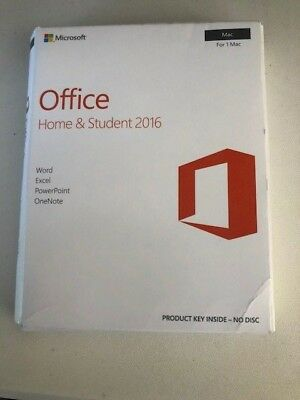 Office Mac 2016 Home & Student - New, Retail