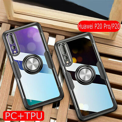 For Huawei P30 Pro P20 Pro Lite Luxury Hybrid Clear Magnetic Stand Case Cover