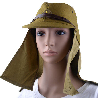 WWII WW2 Japanese Army IJA Soldier Field Wool Hat With Havelock Neck Flap