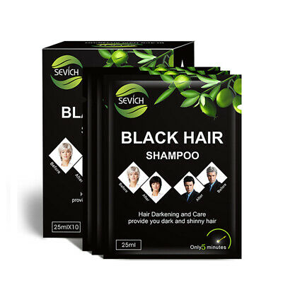 Sevich Easy 5 Minutes Herbal Hair Color Shampoo Base Natural Black Herbs