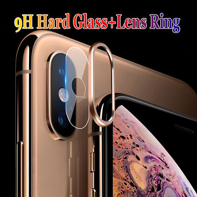 For iPhone XS Max XR Camera Lens Tempered Glass Screen Film Protector Ring Cover