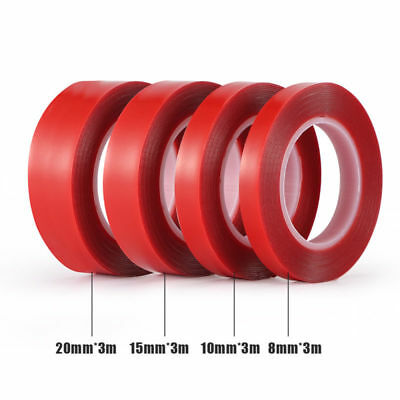 8/10/15/20mm*3m High Strength Double Side Clear Acrylic Adhesive Tape Home Car
