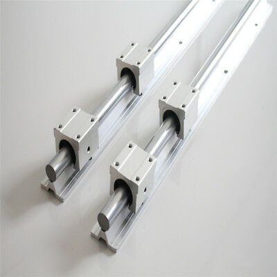 2pcs SBR16-500mm 16MM Fully Supported Linear Rail Shaft + 4 pcs SBR16UU