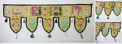 Indian Home Decor Embroidered Traditional Window Valance Door Hanging Toran