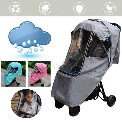 Warm Waterproof Universal Pushchair Baby Stroller Pram Rain Cover Dust Shield